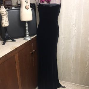 Vintage Lauren by Ralph Lauren black velvet dress